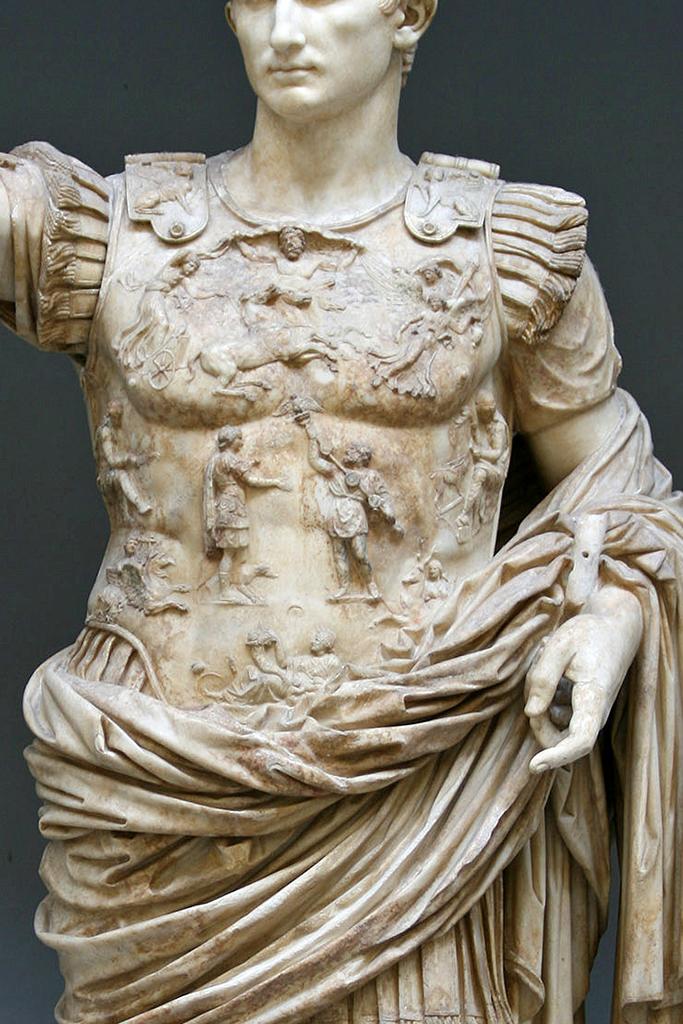 Augusto di Prima porta particolare