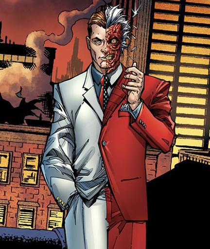Il personaggio di Batman Due Facce creato da Bob Kane e Bill Finger nel 1942 Detective Comics n. 66