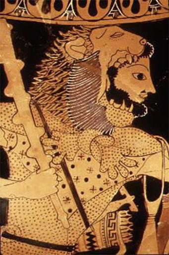 Ercole anfora attica del VI sec. a.C.