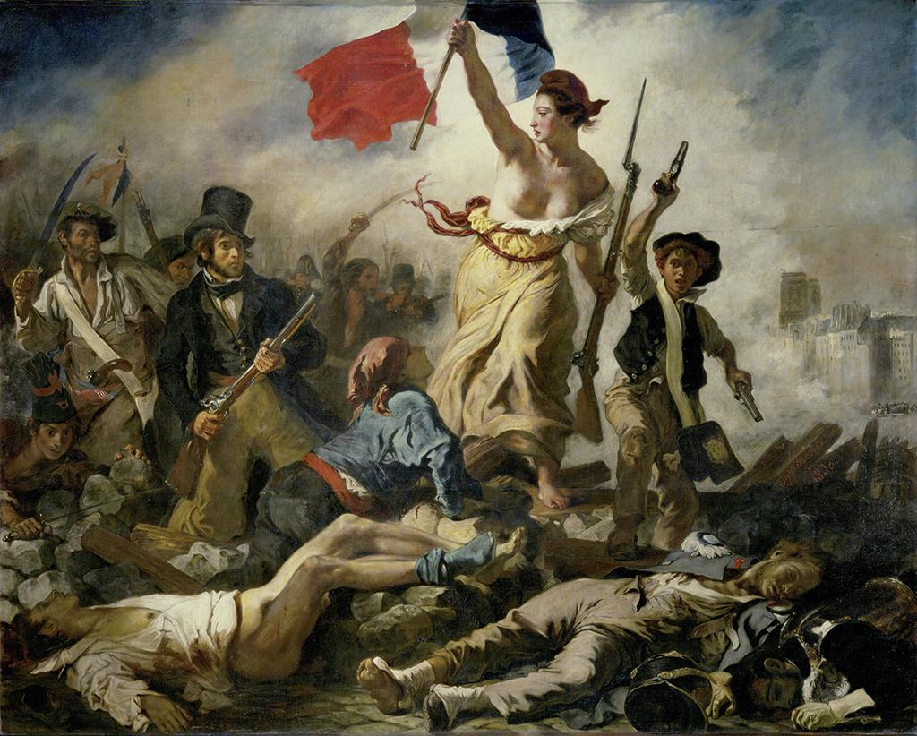 Eugène Delacroix La libertà guida il popolo 1830