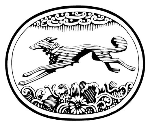Levriero Borzoi logo Knopf