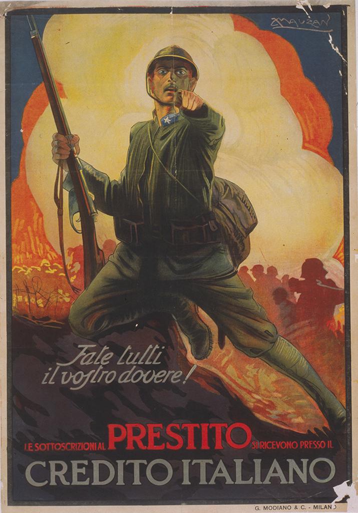 Manifesto Achille Mauzan Fate tutti il vostro dovere 1917