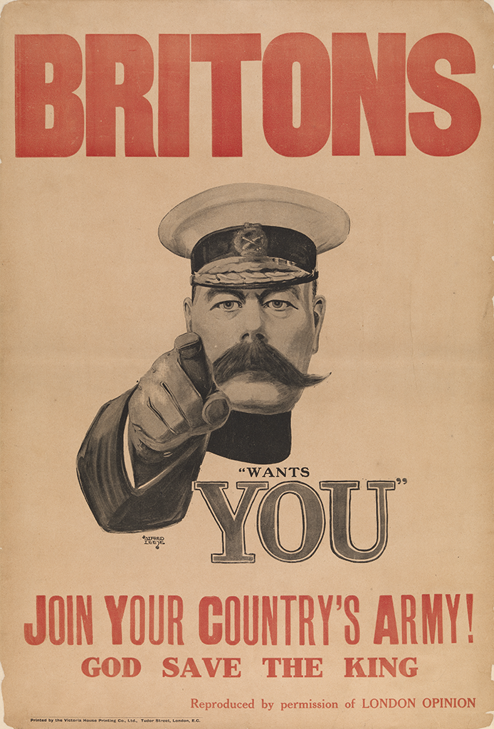 Manifesto Alfred Leete Britons Join your Country's Army 1914