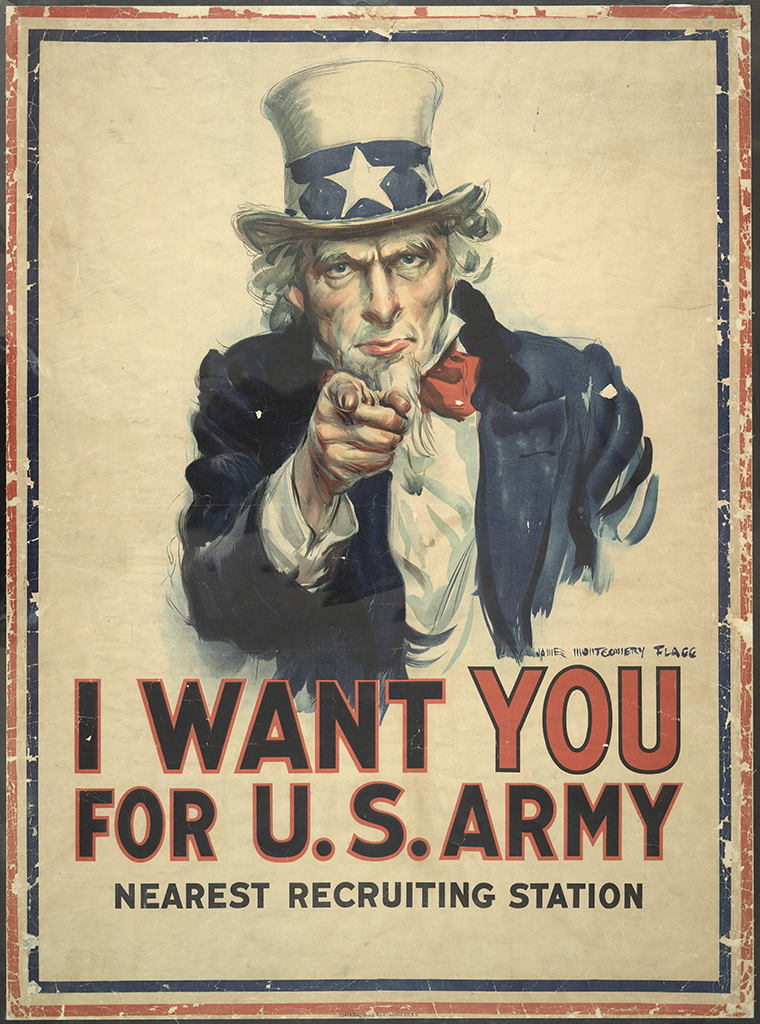 Manifesto James M. Flagg I Want You for U.S. Army 1917