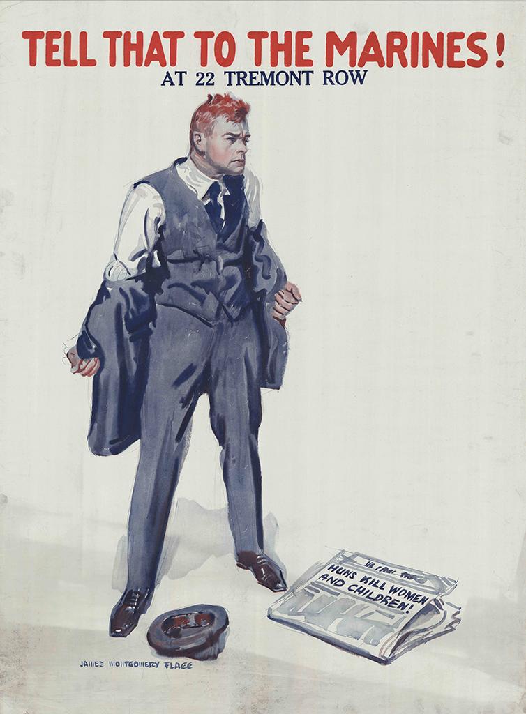 Manifesto James M. Flagg Tell that to the marines 1918