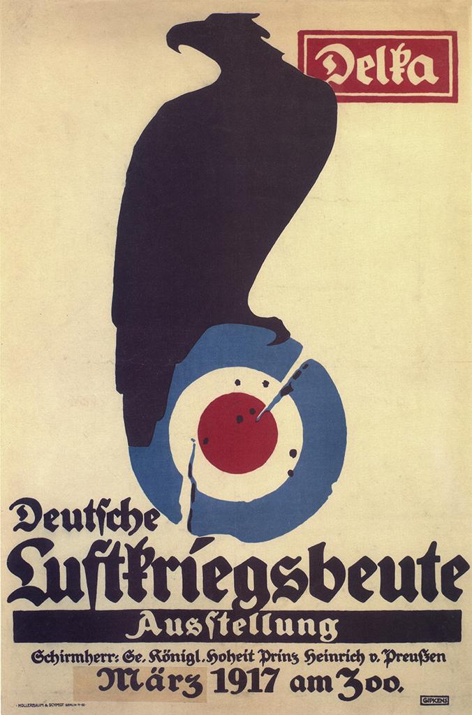 Manifesto Julius Gipkens Deutsche Luftkriegsbeute Ausstellung 1917