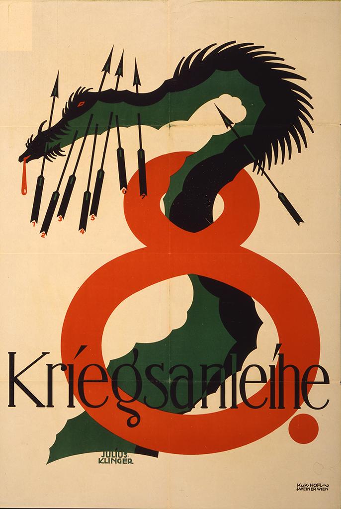 Manifesto Julius Klinger Achte Kriegsanleihe 1918