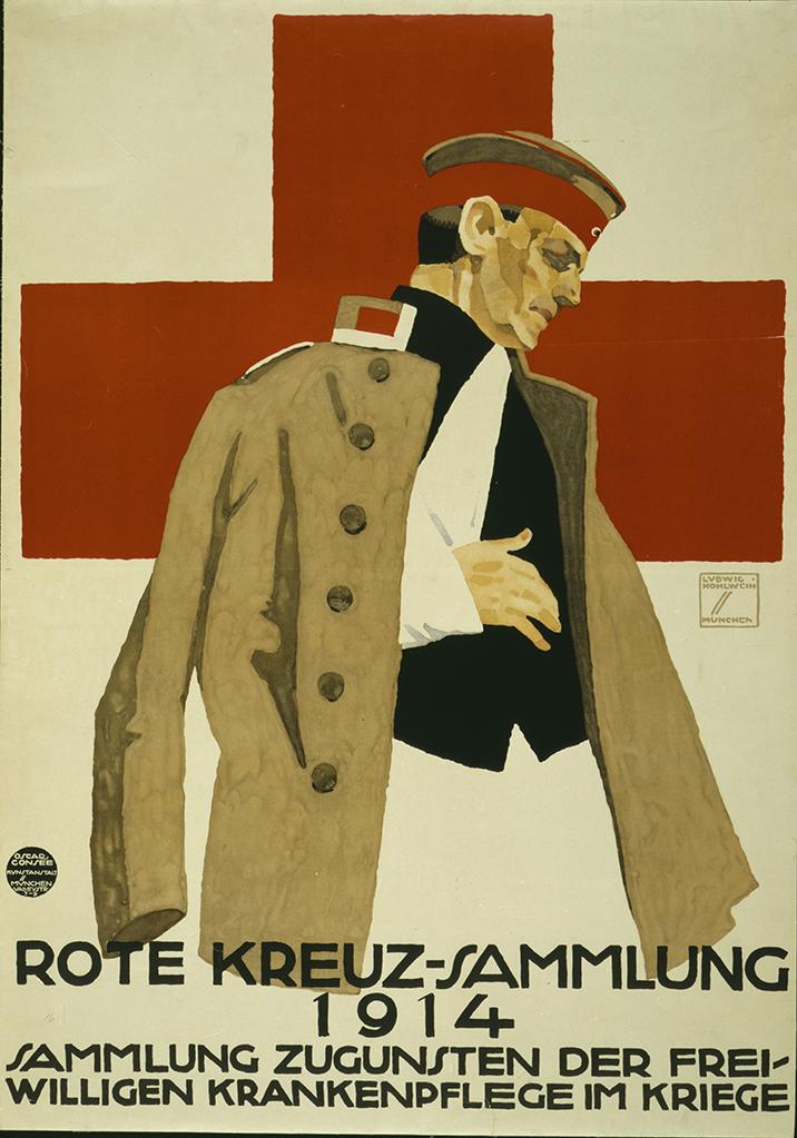 Manifesto Ludwig Hohlwein Rote Kreuz-Sammlung 1914