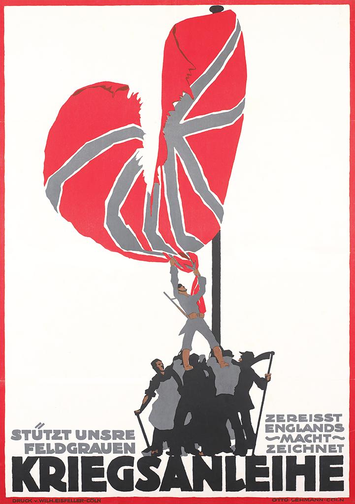 Manifesto Otto Lehmann Stützt unsre Feldgrauen 1917