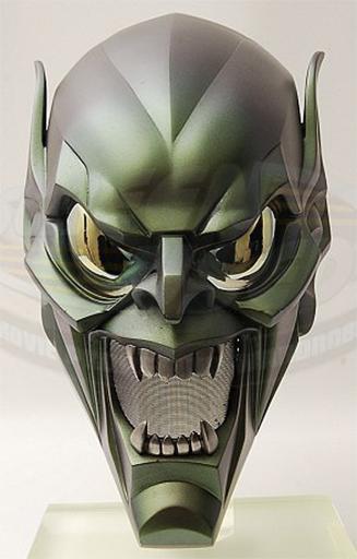 Maschera del Goblin dal film Spider-Man I di Sam Raimi 2002.