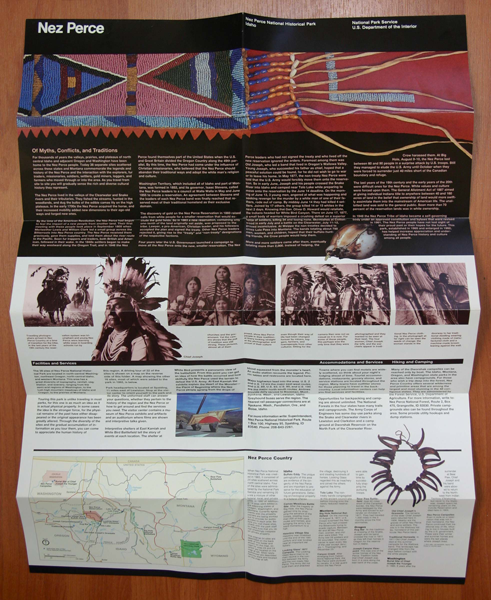 Massimo Vignelli opuscolo per il National Park System 1980
