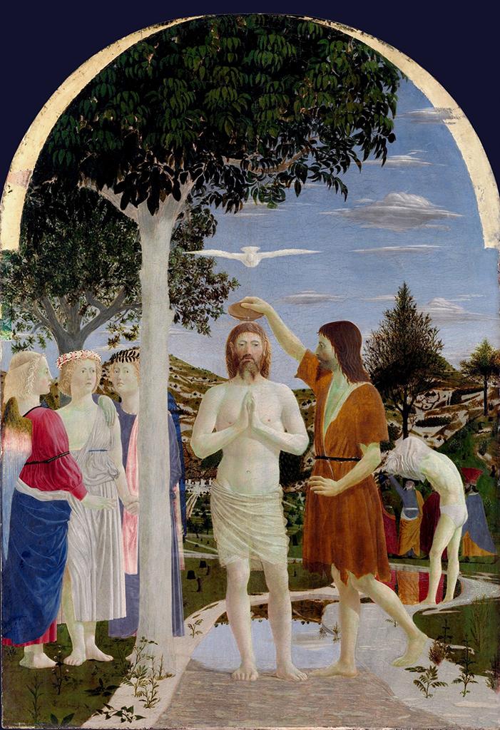 Piero della Francesca The Baptism of Christ 1440-1460