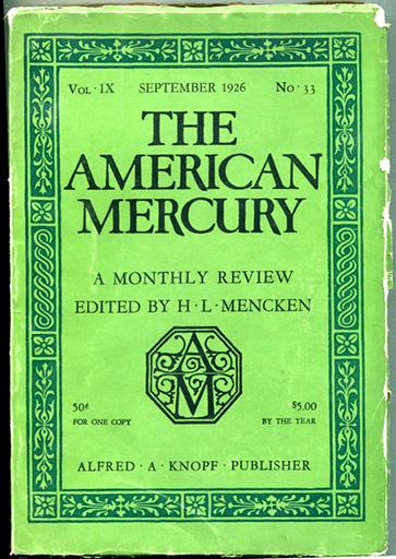 The American Mercury 1926